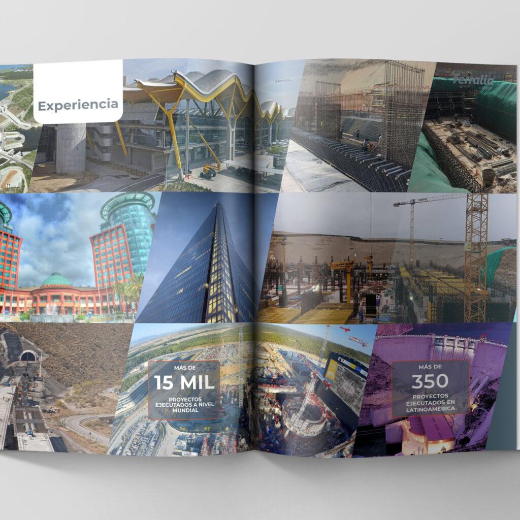 Diseño de brochure - Collage de fotos